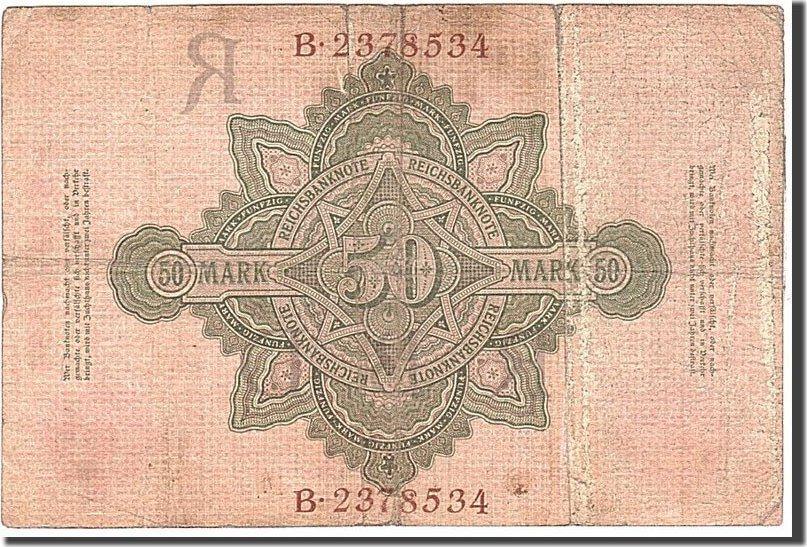 50 Mark 1908 Deutschland KM:32, 1908-02-07, S S