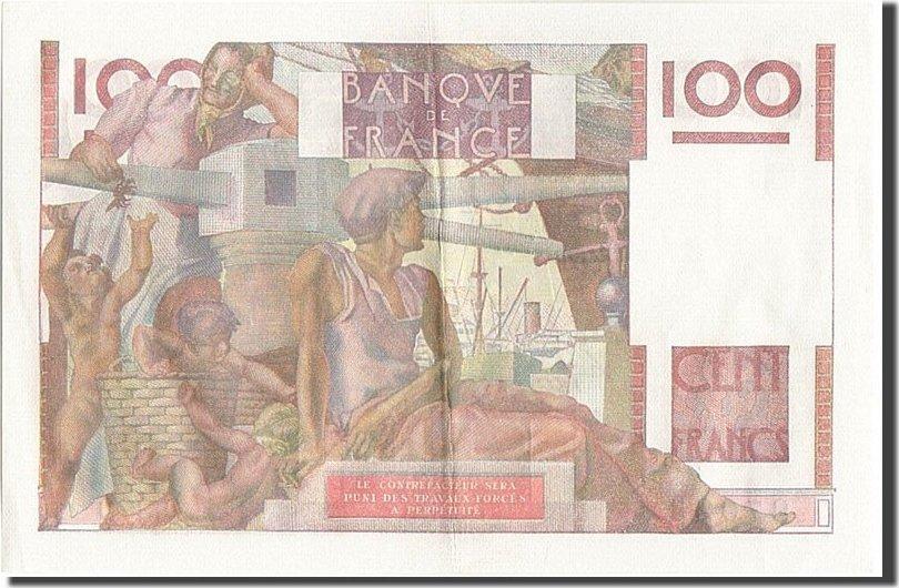 100 Francs 1950 Frankreich AU(50-53)