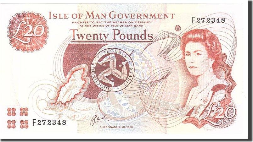 20 Pounds 2000 Isle of Man UNC(65-70)