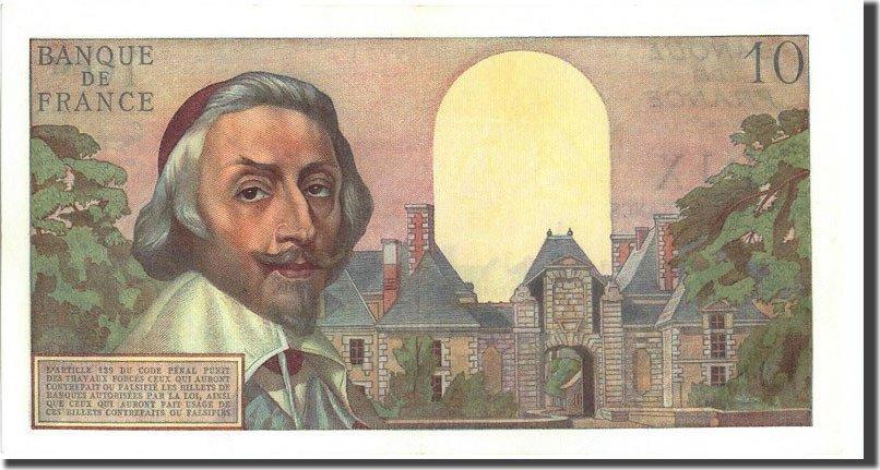 10 Nouveaux Francs 1959 Frankreich 10 NF 1959-1963 ''Richelieu'', KM:142a,... UNZ-