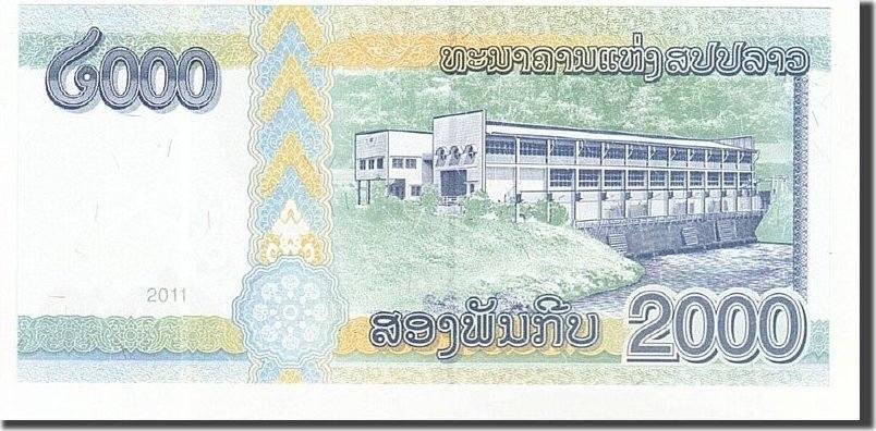 2000 Kip 2011 Lao UNC(65-70)