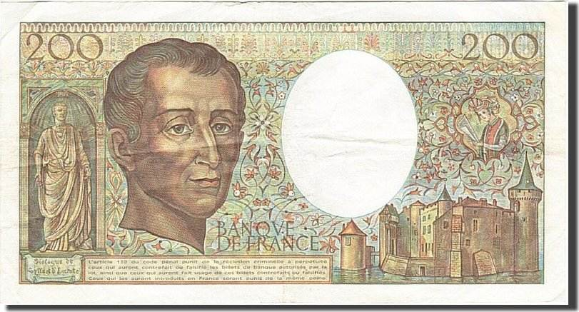 200 Francs 1981 Frankreich KM:155a S+