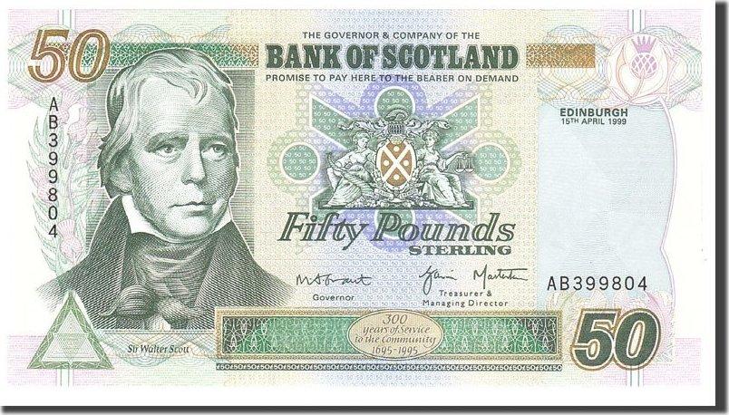 50 Pounds 1999 Scotland UNC(65-70)