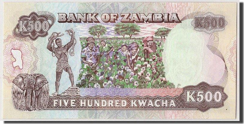 500 Kwacha Undated (1991) Sambia UNC(65-70)