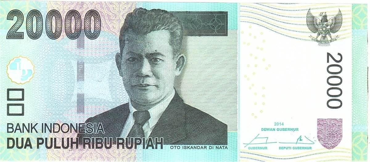 20,000 Rupiah 2014 Indonesien KM:151b, Undated, UNZ UNZ