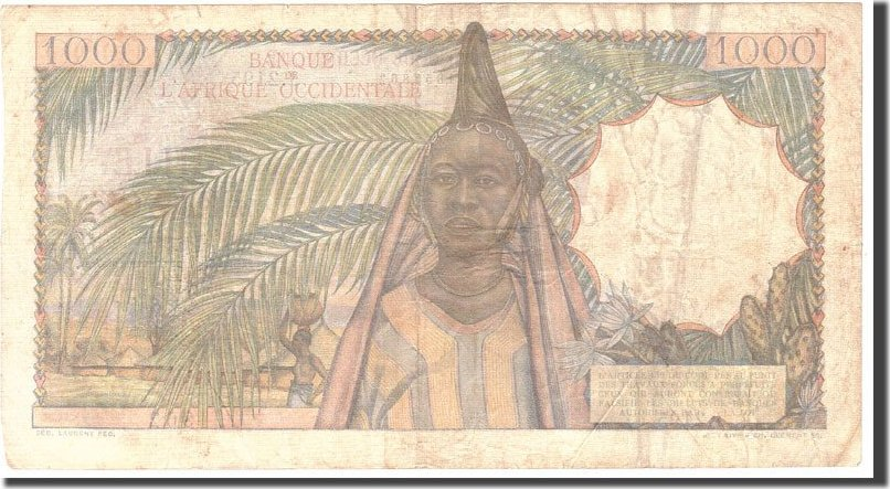 1000 Francs 1951 French West Africa EF(40-45)