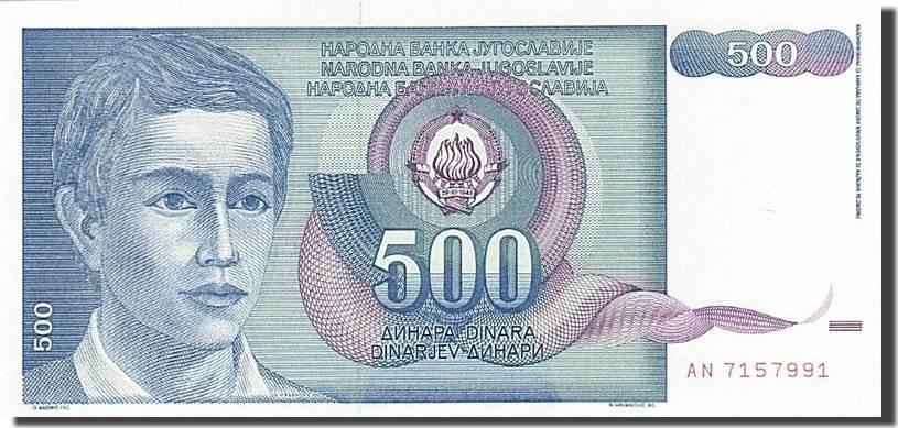 500 Dinara 1990 Jugoslawien UNC(65-70)