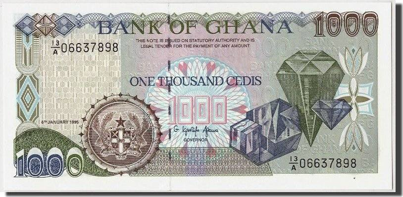 1000 Cedis 1995 Ghana UNC(65-70)