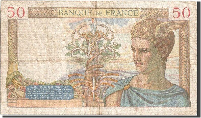 50 Francs 1934 Frankreich VF(20-25)