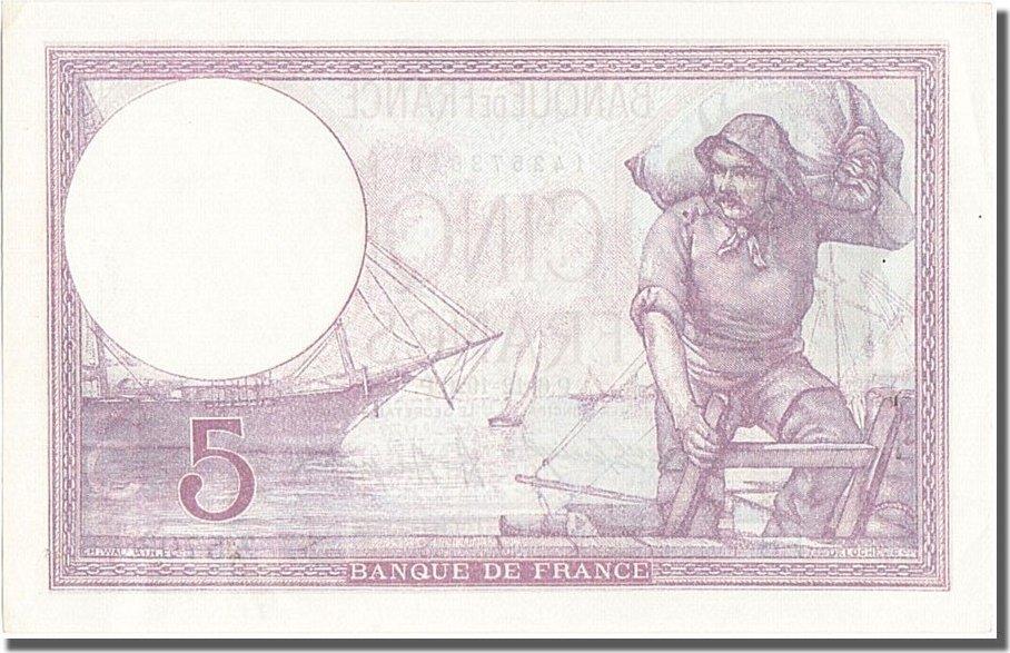 5 Francs 1920 Frankreich UNC(60-62)