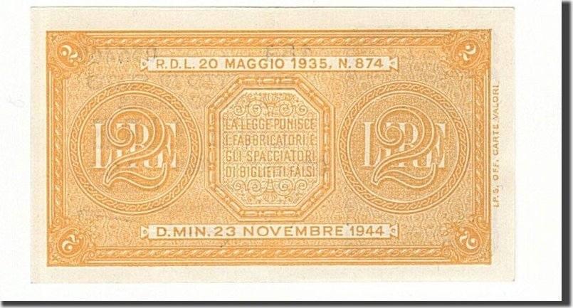 2 Lire 1944 Italien UNC(63)