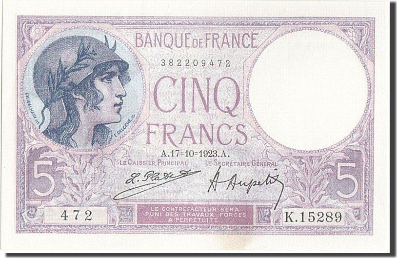 5 Francs 1923 Frankreich UNC(64)