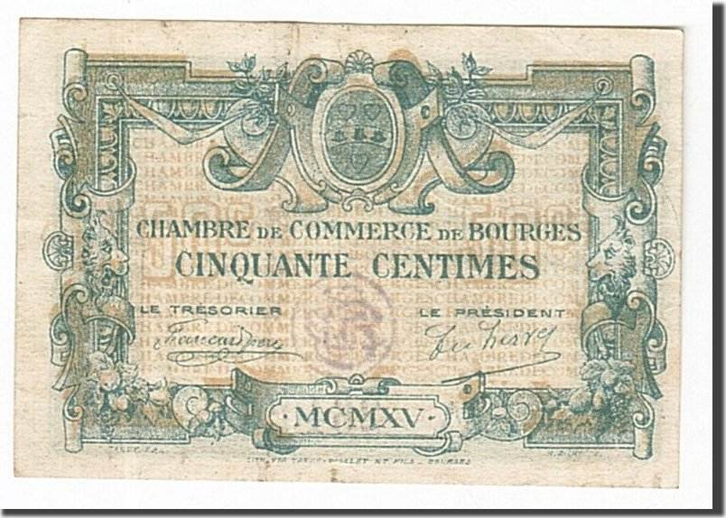 50 Centimes 1915 Frankreich Bourges, SS, Pirot:32-5 SS
