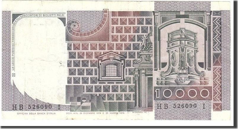 10,000 Lire 1978 Italien VF(30-35)