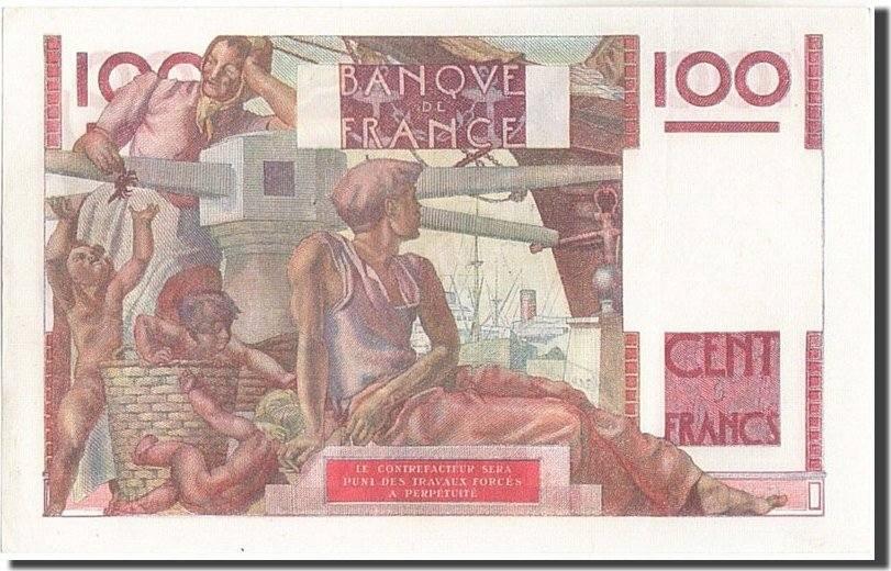 100 Francs 1946 Frankreich 100 F 1945-1954 ''Jeune Paysan'', KM:128a, 1946... UNZ-