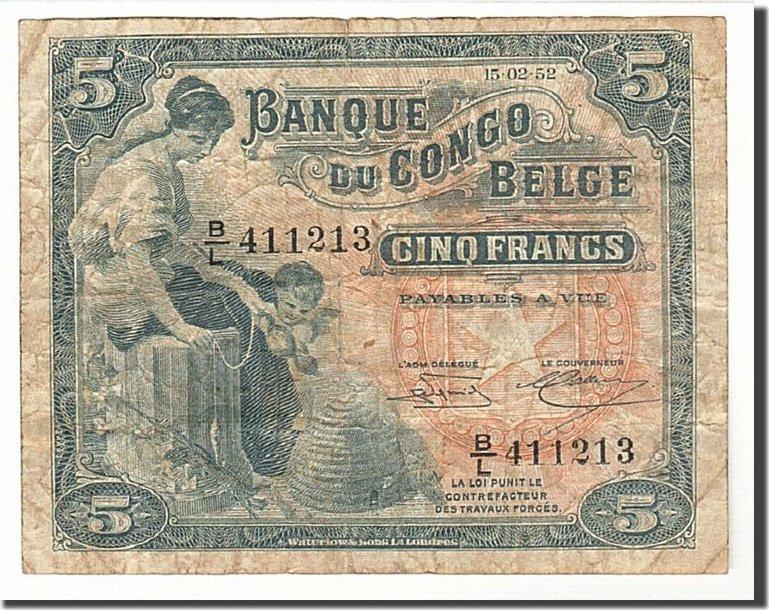 5 Francs 1952 Belgisch-Kongo VF(20-25)