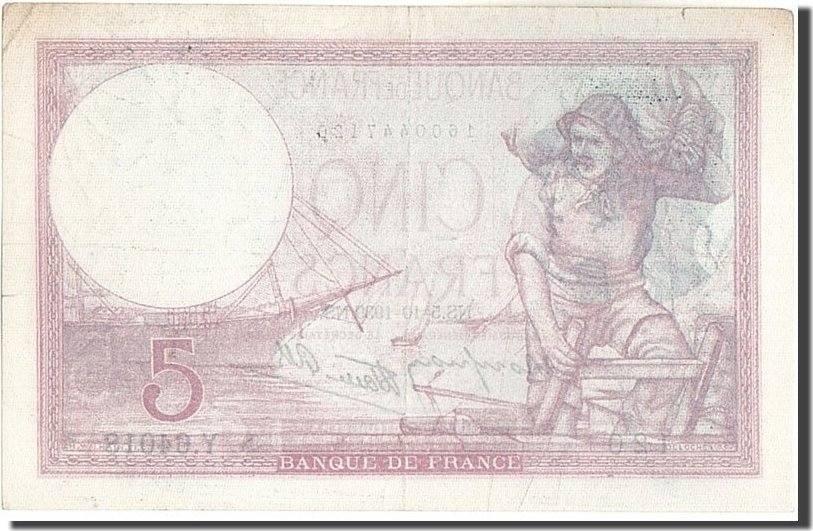 5 Francs 1939 Frankreich 5 F 1917-1940 ''Violet'', KM:83, 1939-10-05, VZ,... VZ