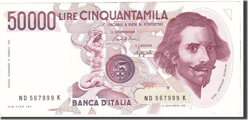 50,000 Lire 1984 Italien KM:113a, 1984-02-06, SS+ SS+
