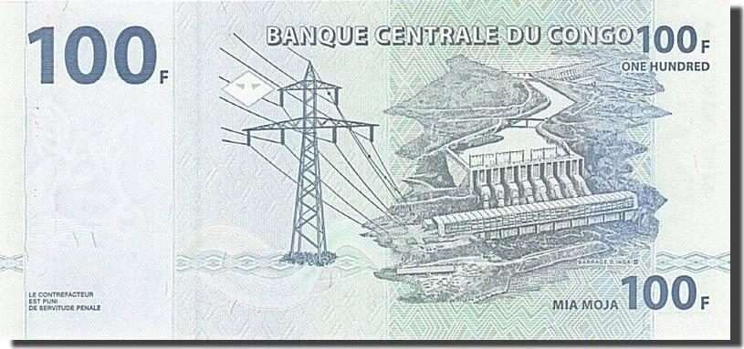 100 Francs 2007 Congo Democratic Republic UNC(65-70)
