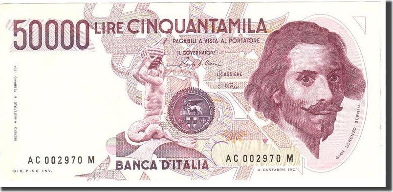 50,000 Lire 1984 Italien EF(40-45)