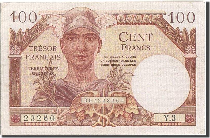 100 Francs 1955 Frankreich 1955-1963 Treasury, KM:M11a, VZ, Fayette:... VZ