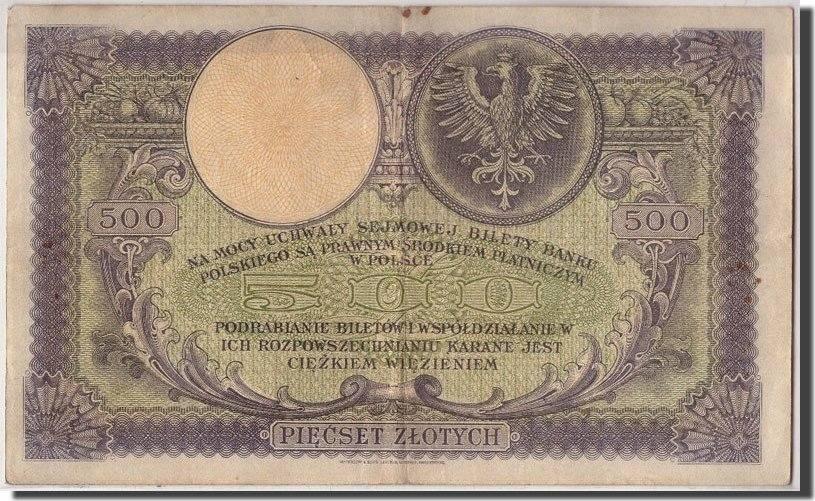 500 Zlotych 1919 Polen KM:58, 1919-02-28, S+ S+