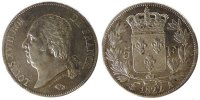 Frankreich 5 Francs Louis XVIII Louis XVIII