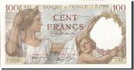 Frankreich 100 Francs 100 F 1939-1942 ''Sully'', KM:94, 1941-01-09, U...