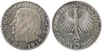 Bundesrepublik Deutschland 5 Mark 150th Anniversary - Death of Johann Gottlieb Fichte, philosopher