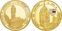Frankreich Medal The Fifth Republic, History, VZ, Gold plated, 41