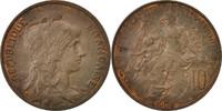Frankreich 10 Centimes Dupuis, Paris, Bronze, KM:843, Gado...
