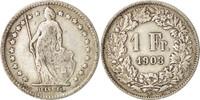 Schweiz Franc Bern, S+, Silber, KM:24