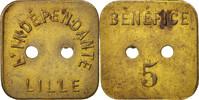 Frankreich Token token count, Ville de Lille, L'indépendante, Bénéfice 5...