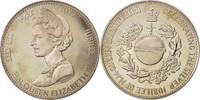 Großbritannien Medal Queen Elizabeth II, Silver Jubilee, History, VZ...