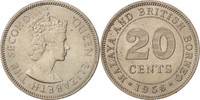 MALAYA & BRITISH BORNEO 20 Cents STGL, Copper-nickel, KM:3