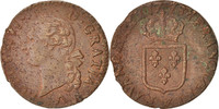 Frankreich Sol Louis XVI, Sol ou sou, Lille, Copper, KM:578.16, Gadou...