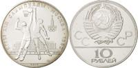 Russland 10 Roubles Leningrad, UNZ+, Silber, KM:168