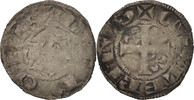Frankreich Denarius Berry, Seigneurie de Déols, Guillaume I de Chauvigny, S+, Silber