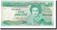 #566740 Undated Osten Karibik Staaten Km:15g 1965 Geldschein 20 Dollars