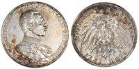 Deutsch Staaten 3 Mark 25th Year of Reign Wilhelm II