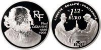 Frankreich 1-1/2 Euro FRANCE, Paris, KM #1453, Silver, 37, 22.20