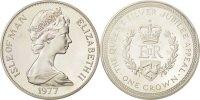 Isle of Man Crown ISLE OF MAN, Pobjoy Mint, KM #41a, Silver, 38.5, 28.56
