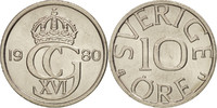 Schweden 10 Öre Carl XVI Gustaf, UNZ, Copper-nickel, KM:850