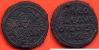 ANTIQUE  THEOPHILUS 829-842 FILS DE MICHEL II FOLLIS EN BRONZE FRAPPE A CONSTANTINOPLE PO
