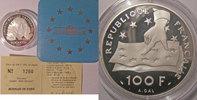 Monnaies commémoratives  Monnaie française, Belle Epreuve, BE, 100 Francs-15 Ecus 1991  Descartes, 22.2 G