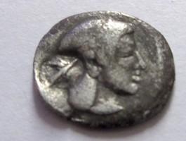 Silber-Litra 474-450 v. Chr. Griechenland Silber-Litra von Syrakus auf Sizilien   Rs. Tintenfisch sehr schön