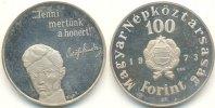 Ungarn 100 Forint 150. Geburtstag von Sandor Petöfi, PP Münze mit Gebrauchsspuren