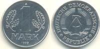 D D R 1 Deutsche Mark (Mark) Kursmünze