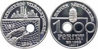 Ungarn 1000 Forint Silber Fußball-WM 1994