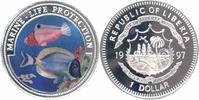 Liberia 1 Dollar Farbmünze Schutz der Meeresfauna